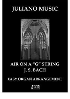 Ария: For easy organ by Иоганн Себастьян Бах