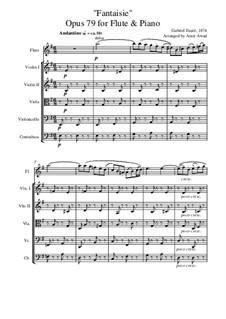 Фантазия для флейты и фортепиано, Op.79: Arranged for flute and string orchestra by Габриэль Форе