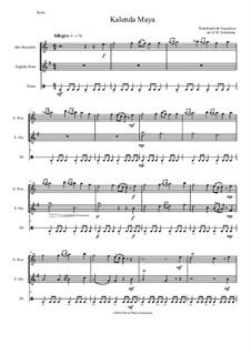 Kalenda Maya: For alto recorder, cor anglais and drum by Raimbaut de Vaqueiras