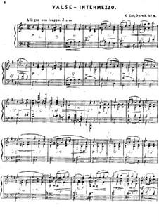 Trois mouvements de valse, Op.41: No.2 Valse-Intermezzo by Цезарь Кюи