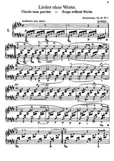 Песни без слов, Op.19, 30: Песни без слов by Феликс Мендельсон-Бартольди