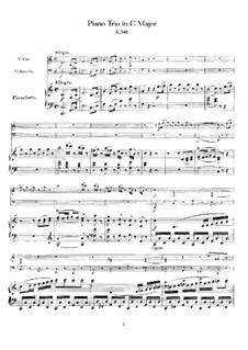 Трио для скрипки, виолончели и фортепиано до мажор, K.548: Партитура by Вольфганг Амадей Моцарт