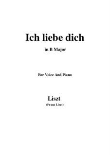 Тебя люблю, S.315: B Major by Франц Лист