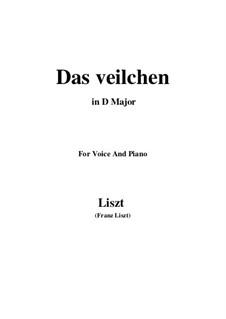 Muttergottes-Sträusslein zum Mai-Monate, S.316: No.1 Das Veilchen in D Major by Франц Лист