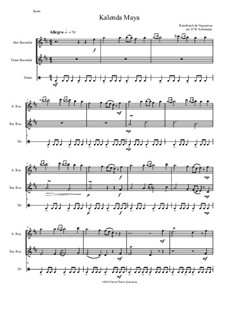 Kalenda Maya: For alto and tenor recorders and drum by Raimbaut de Vaqueiras