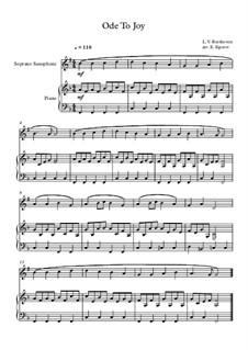 10 Easy Classical Pieces for Soprano Saxophone and Piano Vol. 2: Ode To Joy by Иоганн Себастьян Бах, Генри Пёрсел, Жорж Бизе, Людвиг ван Бетховен, Эдвард Григ, Александр Бородин, Петр Чайковский, Франц Ксавьер Грубер