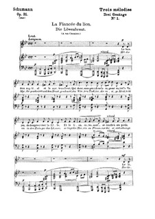 Три романса, Op.31: No.1 Невеста льва by Роберт Шуман