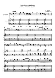 10 Easy Classical Pieces for Trombone and Piano Vol. 2: Polovtsian Dance by Иоганн Себастьян Бах, Генри Пёрсел, Жорж Бизе, Людвиг ван Бетховен, Эдвард Григ, Александр Бородин, Петр Чайковский, Франц Ксавьер Грубер