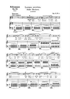 Двенадцать стихотворений для голоса и фортепиано, Op.35: No.10 Тихие слезы by Роберт Шуман