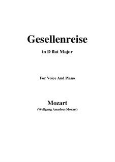 Lied zur Gesellenreise, K.468: D flat Major by Вольфганг Амадей Моцарт