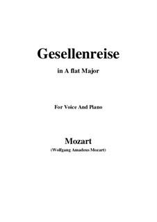 Lied zur Gesellenreise, K.468: A flat Major by Вольфганг Амадей Моцарт
