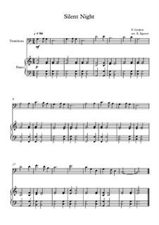 10 Easy Classical Pieces for Trombone and Piano Vol. 2: Silent Night by Иоганн Себастьян Бах, Генри Пёрсел, Жорж Бизе, Людвиг ван Бетховен, Эдвард Григ, Александр Бородин, Петр Чайковский, Франц Ксавьер Грубер