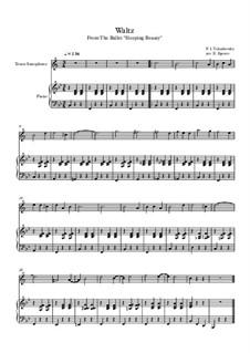 10 Easy Classical Pieces for Tenor Saxophone and Piano Vol. 2: Waltz (Sleeping Beauty) by Иоганн Себастьян Бах, Генри Пёрсел, Жорж Бизе, Людвиг ван Бетховен, Эдвард Григ, Александр Бородин, Петр Чайковский, Франц Ксавьер Грубер