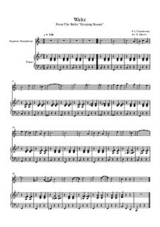 10 Easy Classical Pieces for Soprano Saxophone and Piano Vol. 2: Waltz (Sleeping Beauty) by Иоганн Себастьян Бах, Генри Пёрсел, Жорж Бизе, Людвиг ван Бетховен, Эдвард Григ, Александр Бородин, Петр Чайковский, Франц Ксавьер Грубер
