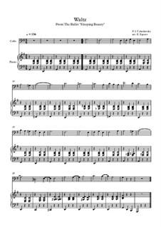 10 Easy Classical Pieces for Cello and Piano Vol. 2: Waltz (Sleeping Beauty) by Иоганн Себастьян Бах, Генри Пёрсел, Жорж Бизе, Людвиг ван Бетховен, Эдвард Григ, Александр Бородин, Петр Чайковский, Франц Ксавьер Грубер