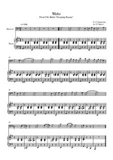 10 Easy Classical Pieces for Bassoon and Piano Vol. 2: Waltz (Sleeping Beauty) by Иоганн Себастьян Бах, Генри Пёрсел, Жорж Бизе, Людвиг ван Бетховен, Эдвард Григ, Александр Бородин, Петр Чайковский, Франц Ксавьер Грубер