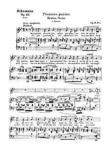 Двенадцать стихотворений для голоса и фортепиано, Op.35: No.4 Первая зелень by Роберт Шуман