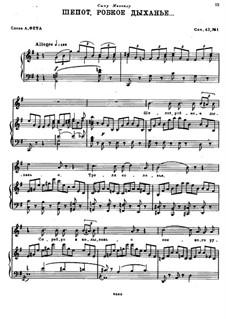 Четыре романса, Op.42: No.1 Шепот, робкое дыханье by Николай Римский-Корсаков