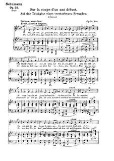 Двенадцать стихотворений для голоса и фортепиано, Op.35: No.6 Бокал умершего друга by Роберт Шуман