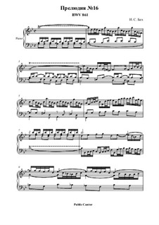 Прелюдия и фуга No.16 соль минор, BWV 861: Прелюдия by Иоганн Себастьян Бах
