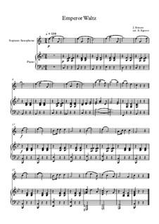 10 Easy Classical Pieces For Soprano Saxophone & Piano Vol.3: Emperor Waltz by Эдвард Макдоуэлл, Иоганн Штраус (младший), Иоганнес Брамс, Георг Фридрих Гендель, Феликс Мендельсон-Бартольди, Роберт Шуман, Муцио Клементи, Джузеппе Верди, Антон Рубинштейн, Юхан Хальворсен