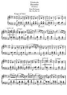 No.12 Декабрь (Святки): Для фортепиано (с аппликатурой) by Петр Чайковский