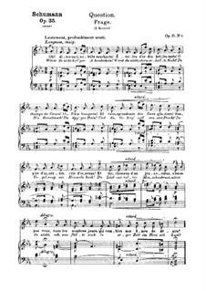 Двенадцать стихотворений для голоса и фортепиано, Op.35: No.9 Вопрос by Роберт Шуман