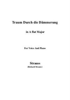 No.1 Traum Durch die Dämmerung: A flat Major by Рихард Штраус