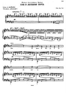 Два романса, Op.56: No.2 Сон в летнюю ночь by Николай Римский-Корсаков