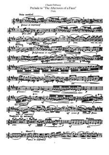 Послеполуденный отдых фавна, L.86: Переложение для флейты и фортепиано – Сольная партия by Клод Дебюсси
