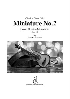 10 Little Miniatures, Op.122: Miniature No.2 by Jamal Zohourian