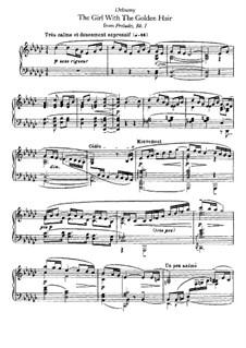 No.8 Девушка с волосами цвета льна: Для фортепиано by Клод Дебюсси