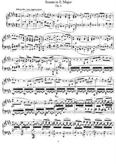 Соната для фортепиано No.1 ми мажор, Op.6: Для одного исполнителя by Феликс Мендельсон-Бартольди