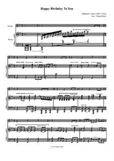 С днем рождения тебя: Для скрипки и фортепиано by Милдред  Хилл