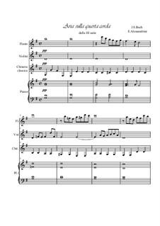 Ария: For quartet by Иоганн Себастьян Бах