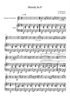 10 Easy Classical Pieces For Soprano Saxophone & Piano Vol.3: Melody In F by Эдвард Макдоуэлл, Иоганн Штраус (младший), Иоганнес Брамс, Георг Фридрих Гендель, Феликс Мендельсон-Бартольди, Роберт Шуман, Муцио Клементи, Джузеппе Верди, Антон Рубинштейн, Юхан Хальворсен