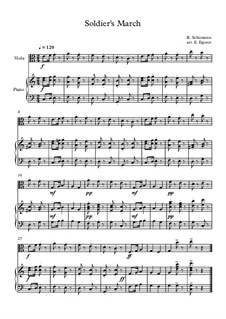 10 Easy Classical Pieces For Viola & Piano Vol.3: Soldier's March by Эдвард Макдоуэлл, Иоганн Штраус (младший), Иоганнес Брамс, Георг Фридрих Гендель, Феликс Мендельсон-Бартольди, Роберт Шуман, Муцио Клементи, Джузеппе Верди, Антон Рубинштейн, Юхан Хальворсен