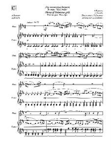 Хор девушек: Для флейты и фортепиано by Александр Бородин