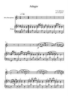 10 Easy Classical Pieces For Alto Saxophone & Piano Vol.4: Adagio (In G Minor) by Иоганн Себастьян Бах, Томазо Альбинони, Йозеф Гайдн, Вольфганг Амадей Моцарт, Франц Шуберт, Жак Оффенбах, Рихард Вагнер, Джакомо Пуччини, folklore