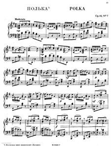 Семь национальных танцев, Op.82: No.7 Полька by Антон Рубинштейн