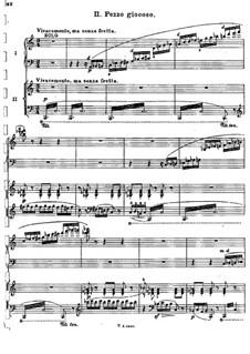 Концерт для фортепиано с оркестром до мажор, BV 247 Op.39: Часть II, для фортепиано в четыре руки by Ферруччо Бузони