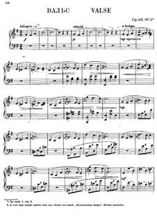 Музыкальные вечера, Op.109: No.2 Вальс by Антон Рубинштейн