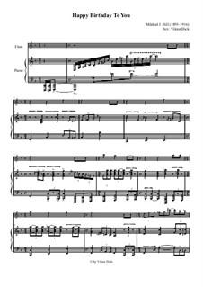 С днем рождения тебя: Для флейты и фортепиано by Милдред  Хилл