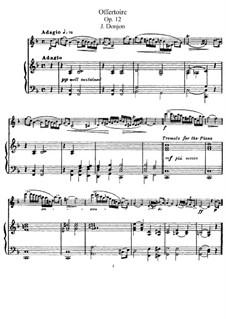 Офферторий для флейты и фортепиано, Op.12: Партитура by Johannes Donjon