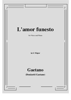L'amor funesto. Romance: G Major by Гаэтано Доницетти