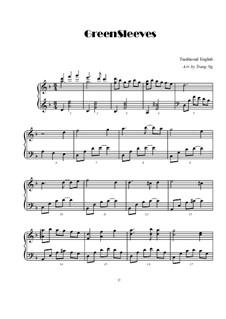 Greensleeves, for Piano: Для одного исполнителя by folklore