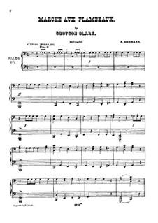Marche aux flambeaux: Для двух фортепиано в 8 рук – партия II фортепиано by Scotson Clark