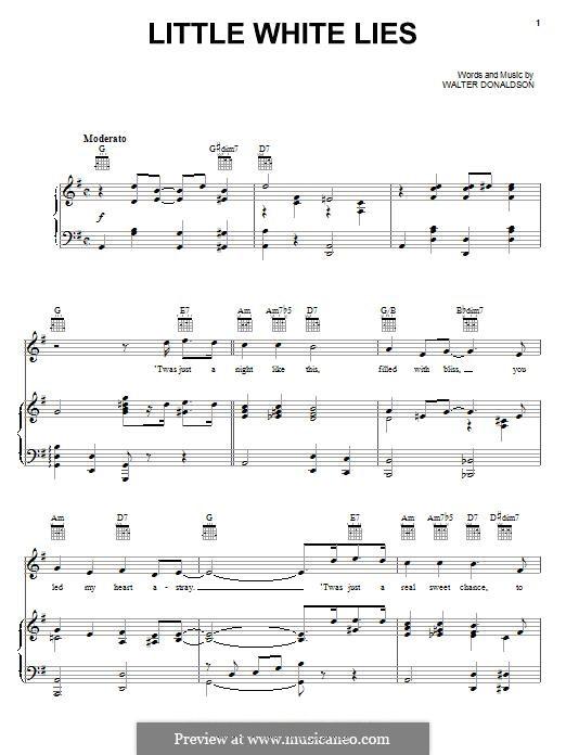 Little White Lies: Для голоса и фортепиано (или гитары) by Уолтер Дональдсон