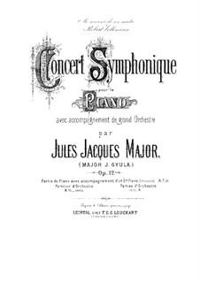 Концерт для фортепиано с оркестром ре минор, Op.12: Концерт ре минор для фортепиано с оркестром by Jakob Gyula Major