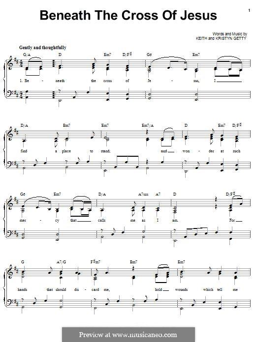 Beneath the Cross of Jesus: Для голоса и фортепиано (или гитары) by Frederick Charles Maker